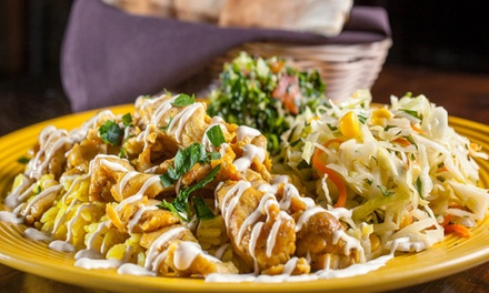 Mediterranean Cuisine for Two or Four or $13 for $20 Worth of Takeout at Mazah Mediterranean Eatery