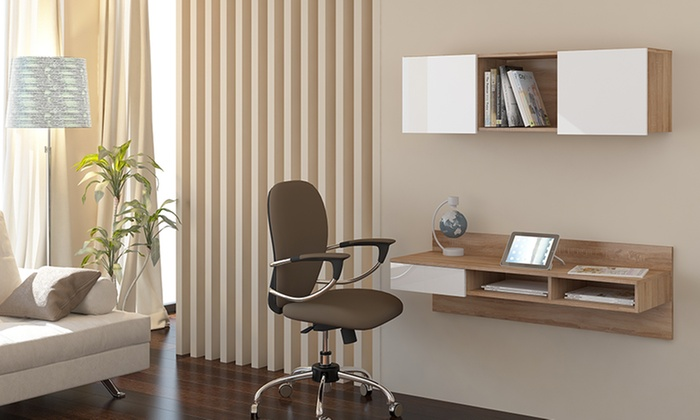 Scrivania sospesa diseño moderno sala de estar comedor baño