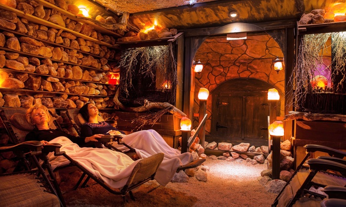 Healing Salt Caves - Niagara Falls: C$49 for a 45-Minute Salt Cave Session and Polish Pink Salt for Two at Healing Salt Caves (C$100 Value)