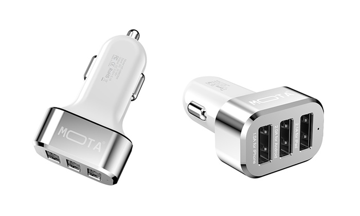 Mota High Speed  Port   Amp Usb Car Charger