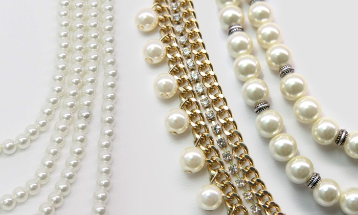 Faux-Pearl Bracelets and Necklaces: Faux-Pearl Bracelets and Necklaces. Four Options Available from $9.99–$12.99. Free Returns.