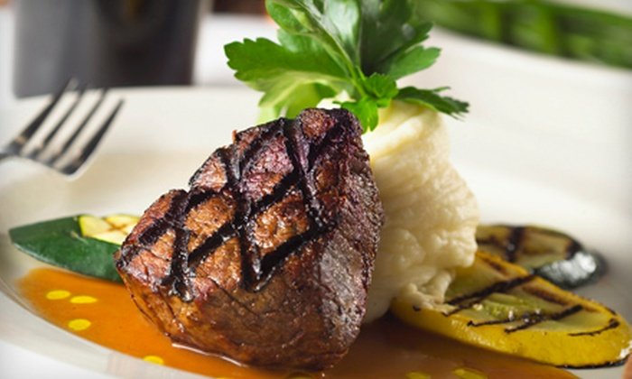 Sheepherder Bar & Grille - Rancho Cordova: Gourmet Steak and Seafood Dinner at Sheepherder Bar & Grille (Half Off). Two Options Available.