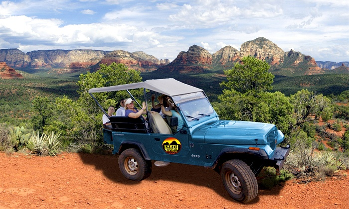 Earth Wisdom Jeep Tours - Sedona: Rough Rider Canyon Jeep Tour in Sedona for Two, Four, or Six from Earth Wisdom Jeep Tours (Up to 40% Off)