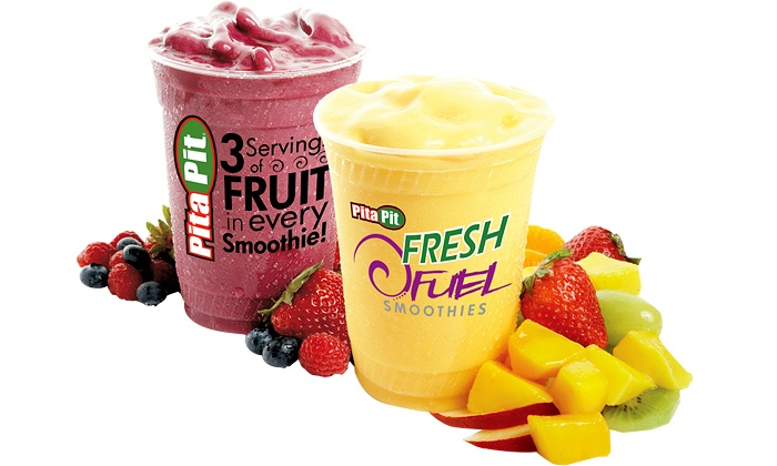 Pita Pit - Tuxedo Industrials: Pitas and Salads or a Punch Card for Five Smoothies at Pita Pit (Up to 44% Off). Three Options Available.