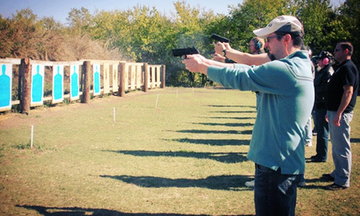 DFW Shooters Academy - Multiple Locations: 10-Hour Concealed-Handgun-License Course with Lunch or Dinner for One or Two at DFW Shooters Academy (58% Off)