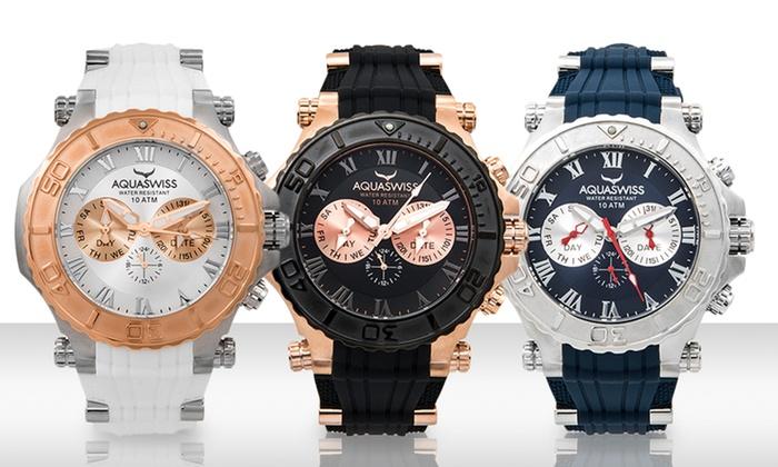 Aquaswiss Bolt 5-Hand Unisex Watches: Aquaswiss Bolt 5-Hand Unisex Watches. Multiple Styles Available. Free Shipping and Returns.
