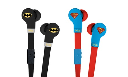 iHip DjZ Superman or Batman Earphones with Mic. Free Returns.