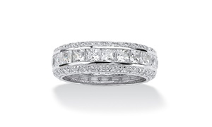 18k White Gold-plated Inside Out Eternity Band
