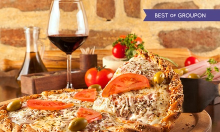 Pizza or Pasta for Two or Four with a Glass of Wine Each at Papavero (Up to 51% Off)