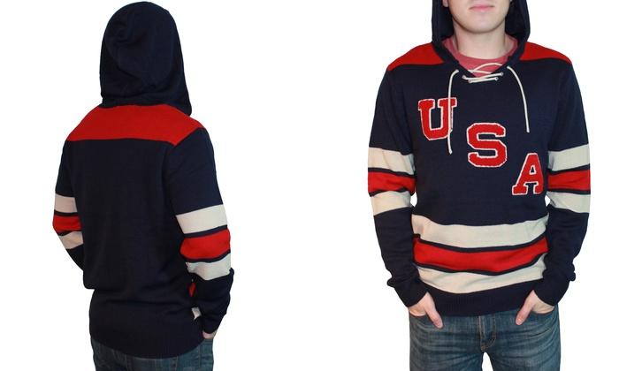 ed5e8702 Men's Retro USA Hockey Hoodie | Groupon Goods