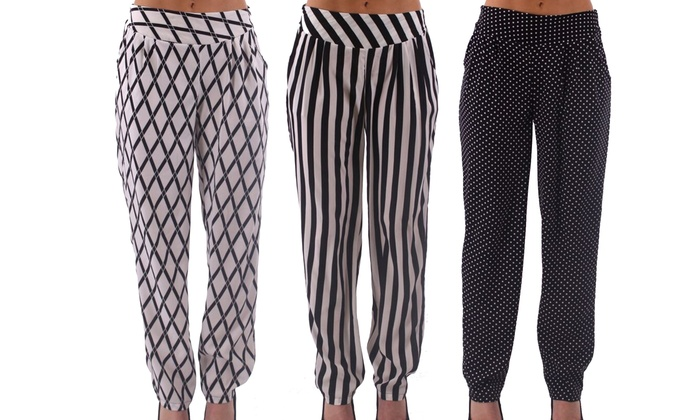 Women's Soft Printed Pants | Groupon Goods