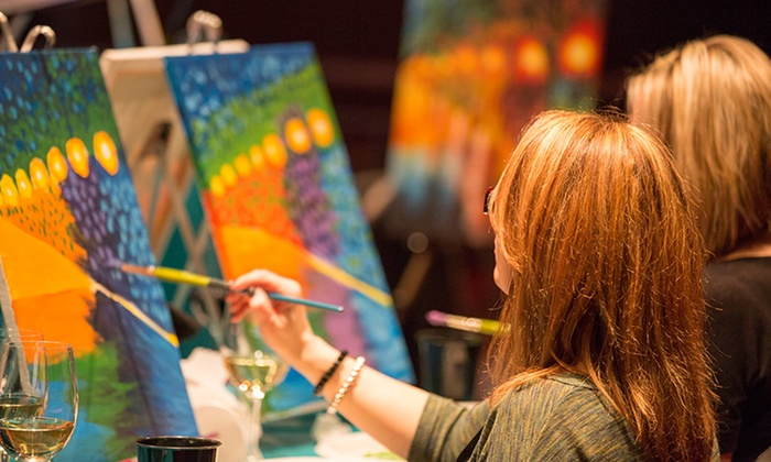 Cocktails 'n Canvas - Toronto (GTA): C$25for Admission for One to a Painting Party at Cocktails 'n Canvas (C$43 Value)