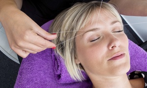 Perfect Threading : One or Three Full-Face Threading Sessions or Three Facials at Perfect Threading Salon (Up to 56% Off)