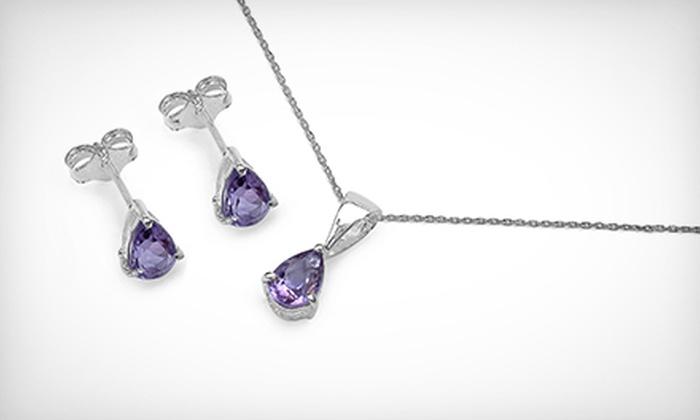 Silver Street Jewellers - Nutana: $25 for Amethyst Necklace and Earrings at Silver Street Jewellers ($100 Value)