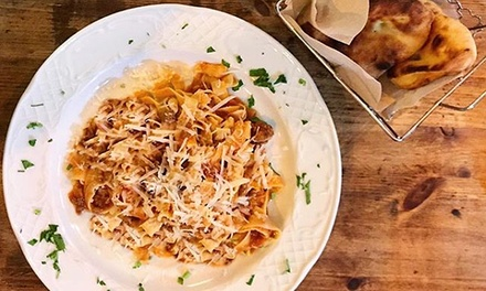 Menú italiano para 2 personas con entrante, principal, postre y bebida por 19,95 € en Bella Ciao