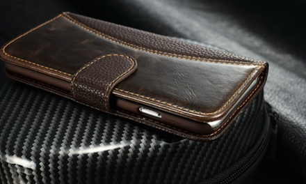 Two Leather Case Wallets for iPhone 5/5s/5SE, 6/6S or 6 Plus/6s Plus for AED 39