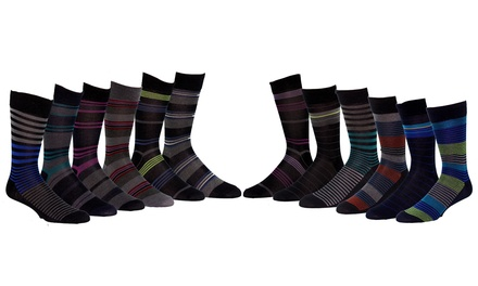Yves Franc Claire Men's Assorted Designer Dress Socks (12-Pair Pack)