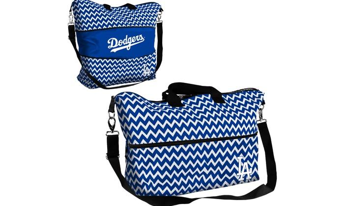 Los Angeles Dodgers Chevron Expandable Tote: Los Angeles Dodgers Chevron Expandable Tote
