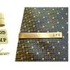 Custom Hand Stamped Brass Tie Clips from JC Jewelry Design