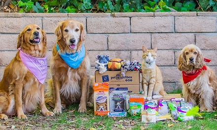 One- or Three-Month Subscription for Monthly Delivery of Pet Toys and more from Pet Gift Box (Up to 64% Off)