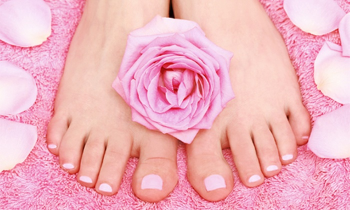 Creative Nails Too - Algonquin: $39 for One No-Chip Manicure with a Regular Pedicure at Creative Nails Too ($80 Value)