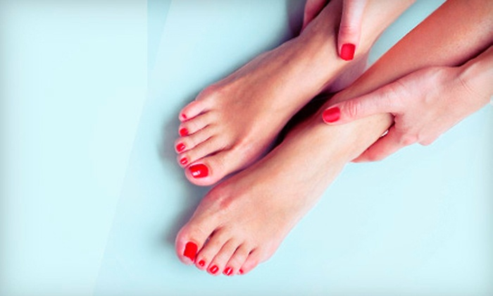 Transitions Salon - Rainwood: One or Two Shellac Manicures and Spa Pedicures at Transitions Salon (Up to 55% Off)