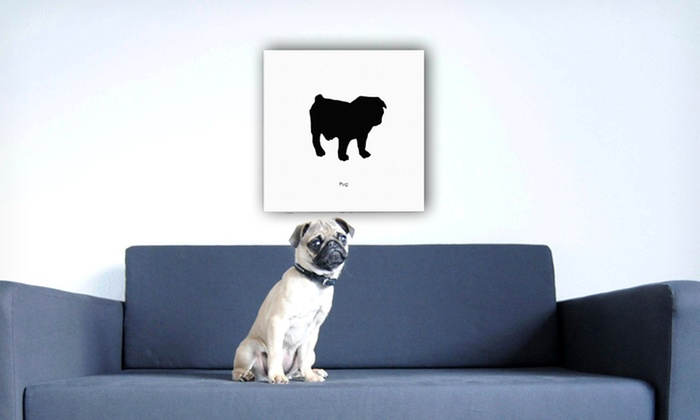Dog Silhouette Canvas Prints: $44.99 for a Dog Silhouette Canvas Print ($199 List Price). 15 Options Available. Free Shipping and Free Returns.