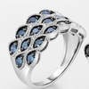1.00 CTTW Black or Blue Diamond Ring