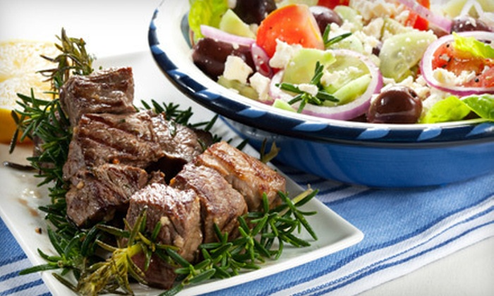 Athena Mediterranean Cuisine - Park Slope: $20 for $40 Worth of Greek Food and Two Glasses of House Wine at Athena Mediterranean Cuisine ($52 Value)