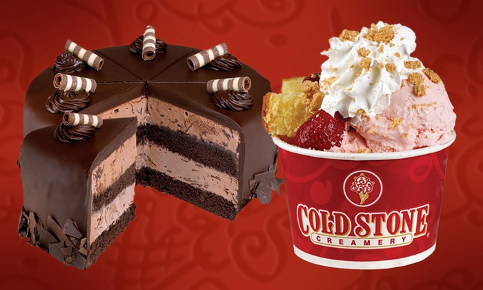 "Cold Stone Creamery - Multiple Locations: ""Like It""-Sized Ice Cream Cups with Mix-In, or 6"" Ice Cream Cake at Cold Stone Creamery (Up to 40% Off)"