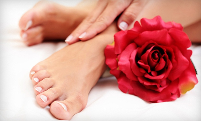 Cham-Pagne Salon & Spa - Barrington: Regular Mani-Pedi, Spa Mani-Pedi, or Five Manicures or Pedicures at Cham-Pagne Salon & Spa in Barrington (Up to 67% Off)