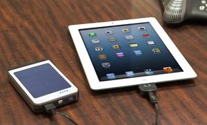 Ultra-high-capacity 6,000mah Solar-powered Usb Backup Battery With Ecopanel