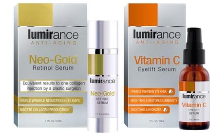 Lumirance Retinol Serum and Vitamin C Serum Anti-Aging Skincare Duo