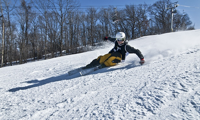 Cascade Mountain Ski & Snowboard Area - Wisconsin Dells: Lift Ticket with Optional Equipment Rental or a Beginner Package or Tubing at Cascade Mountain (Up to 57% Off)