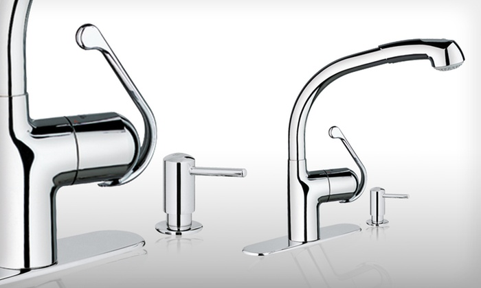 grohe zedra kitchen faucet groupon goods. Black Bedroom Furniture Sets. Home Design Ideas