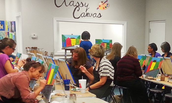 Classy Canvas - Classy Canvas: One BYOB Painting Class for Two or Four, or Two Kids' Painting Classes at Classy Canvas (Up to 55% Off)