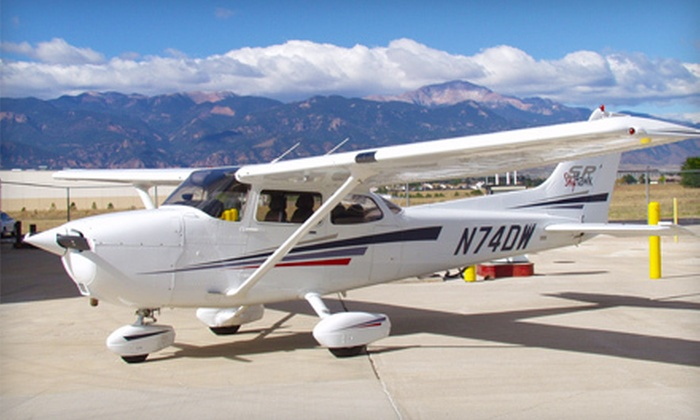 Peak Aviation Center - Colorado Springs Airport: Introductory Flight Package for One or Two at Peak Aviation Center (Up to 52% Off)