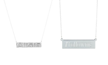 Personalized Necklace with Soldered or Engraved Name Bar from Luce Mia (Up to 64% Off)