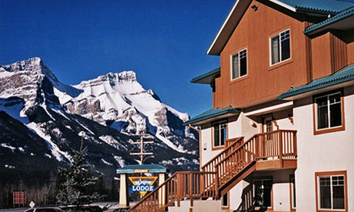 Banff Boundary Lodge - Harvie Heights: $149 for a Two-Night Stay for Up to 4 Adults and 2 Kids with a Gift & Movie Rental at Banff Boundary Lodge ($321 Value)