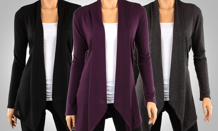 Draped Hacci Cardigans (3-Pack)