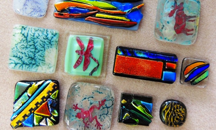 Brighton Beads & More - Brighton: Glass-Fusing Class for One or Two with Dichroic Pieces at Brighton Beads & More (Up to 44%Off)