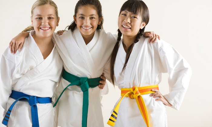 David Deaton Karate Studios - Multiple Locations: Three Kids' Karate Lessons with Uniform for One or Two at David Deaton Karate Studios (Up to 54% Off)