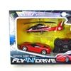 Fly 'N Drive Remote-Control Sports Car and Helicopter Set