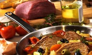 Legna&Brace: Menu di carne con calice o bottiglie di vino per 2 o 4 persone al ristorante Legna&Brace (sconto fino a 69%)