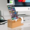 Bamboo Charging Stand for iPhones and Apple Watches