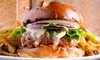 Steeples Bar and Grill - Shawnigan Lake: Four-Course Burger Meal with Drinks for Two or Four at Steeples Bar and Grill (Up to 51% Off)