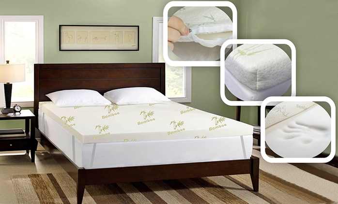 Bamboo Memory Foam Mattress Topper: Double ($89), Queen ($109) or King ($129) (Don't Pay up to $699.95)