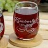 Monogrammed Stemless Wineglass from Monogram Online