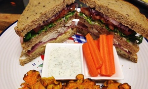 Sunflower Organic Cafe: C$16 for Two C$15 Groupons for Organic Sandwiches, Salads, and Breakfast Food at Sunflower Organic Cafe (C$30 Value)