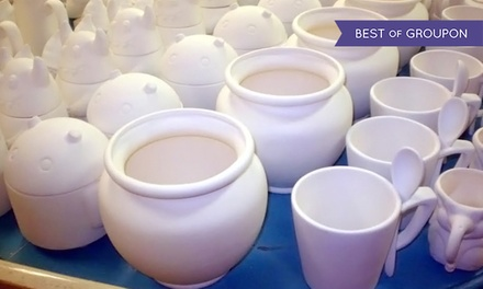 $15 for $25 Worth of Paint-Your-Own Pottery and Studio Time at Seize the Clay
